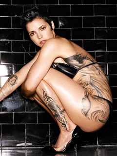 Tattoo Girl Mobile Wallpaper