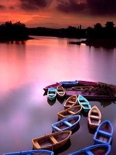 Colors Boats Mobile Wallpaper