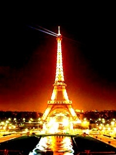 Eiffel Lights Tower Mobile Wallpaper