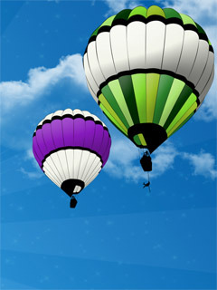 Balloons And Sucid Mobile Wallpaper
