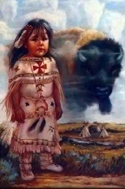 Indian Child With Buffalo Mobile Wallpaper