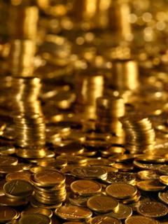 Golden Coins Mobile Wallpaper