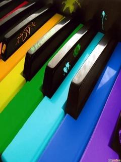 Color Piano Mobile Wallpaper