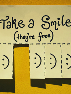 Take A Smile Mobile Wallpaper