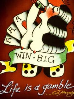Life Is Gamble Mobile Wallpaper
