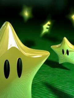Green Stars Mobile Wallpaper