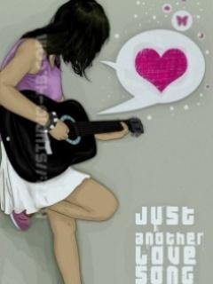Emo Guitar Mobile Wallpaper