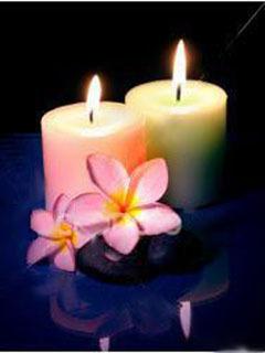 Candles N Flower Mobile Wallpaper