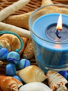 Blue Candle Mobile Wallpaper