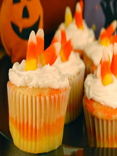 Candy Corn Cupcakes Mobile Wallpaper
