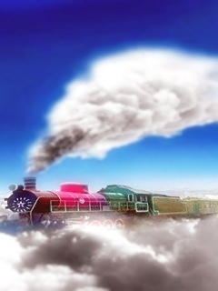 Colors Train Mobile Wallpaper