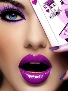 Purple Girl Mobile Wallpaper