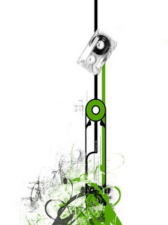 Green N Cassette Mobile Wallpaper