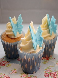 Butterfly Cupcakes Mobile Wallpaper