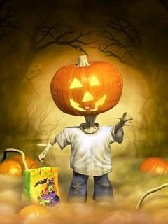 Little Halloween Mobile Wallpaper