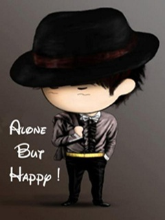 Alone But Happy Mobile Wallpaper