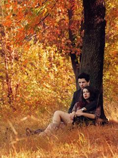 Love In Autumn Mobile Wallpaper