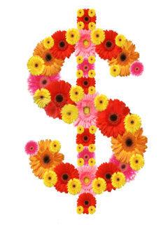 Dollar Flowers Mobile Wallpaper