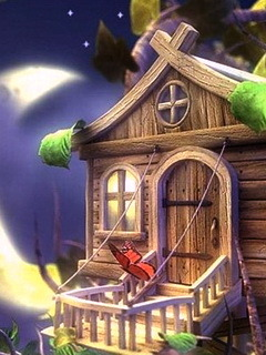 Fairy House Mobile Wallpaper