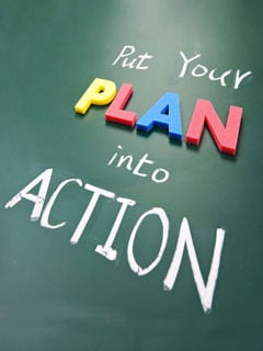 Plan Into Action Mobile Wallpaper