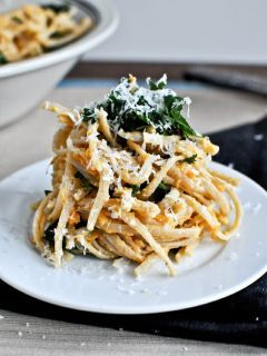 Sweet Potato Pasta With Kale Mobile Wallpaper