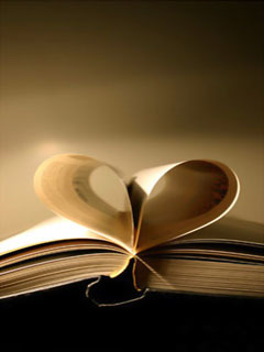 Book Heart Mobile Wallpaper