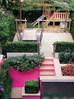Pink Yard Mobile Wallpaper