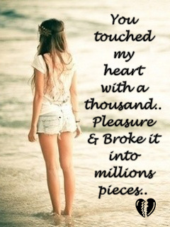 Touched My Heart Mobile Wallpaper