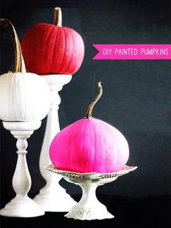 Painted Pumpkins  Mobile Wallpaper