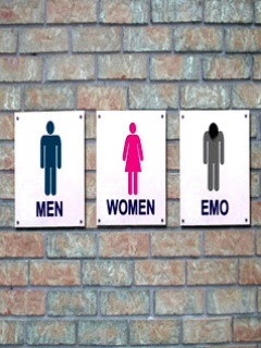 Men Women Emo Mobile Wallpaper