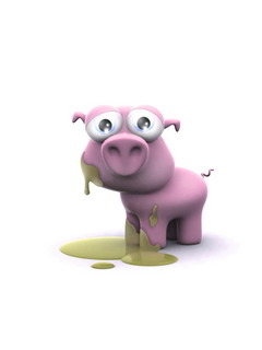 Little Pink Pig Mobile Wallpaper