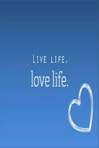 Live Life And Love Life Heart  Mobile Wallpaper