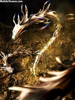 Gold Dragon By Vaibhav Mobile Wallpaper