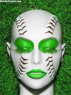 Green Girl Mobile Wallpaper