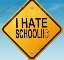 I-hate-school Mobile Wallpaper