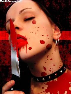 Blood Girl Mobile Wallpaper
