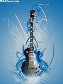 Guitar Blue Mobile Wallpaper