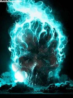 Flaming Skull Mobile Wallpaper