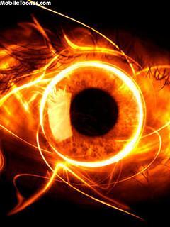 Fire Eye Mobile Wallpaper