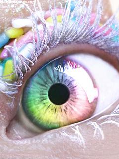 Beautiful Colorful Eye Mobile Wallpaper