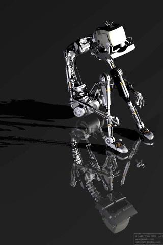 Black Robot Mobile Wallpaper