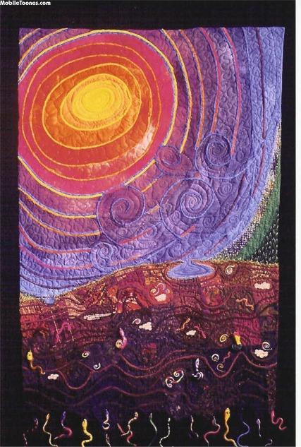 Abstract Sunrise Mobile Wallpaper