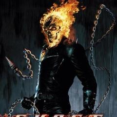 Ghost Rider Buring Skull Mobile Wallpaper