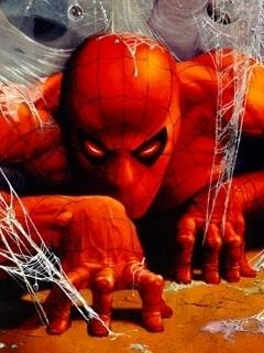 Spider Man Red  Mobile Wallpaper