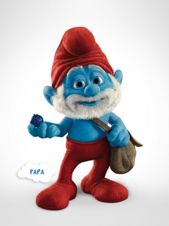 Smurfs Papa Mobile Wallpaper