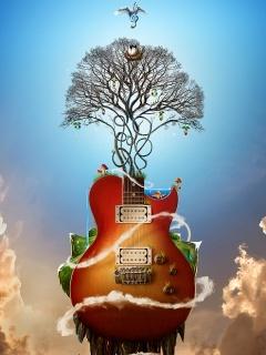 The Love Of Music Mobile Wallpaper