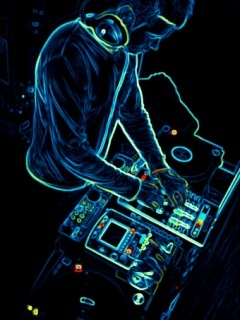 Neon DJ Mobile Wallpaper