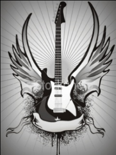 Animated Guitar Mobile Wallpaper