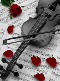 Download Balck Violin Mobile Wallpaper Mobile Toones