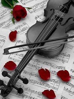 Balck Violin Mobile Wallpaper